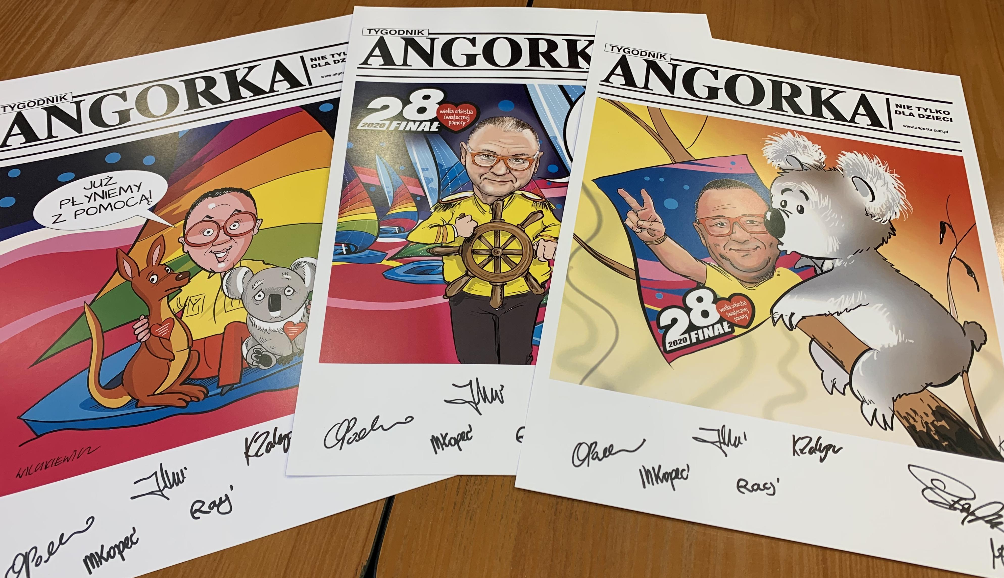 28. Finał WOŚP. Pamiątkowe plakaty z autografami rysowników ANGORKI