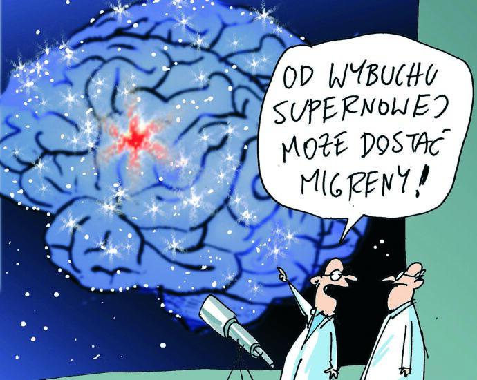 Mózg jak Wszechświat. Rys. Katarzyna Zalepa